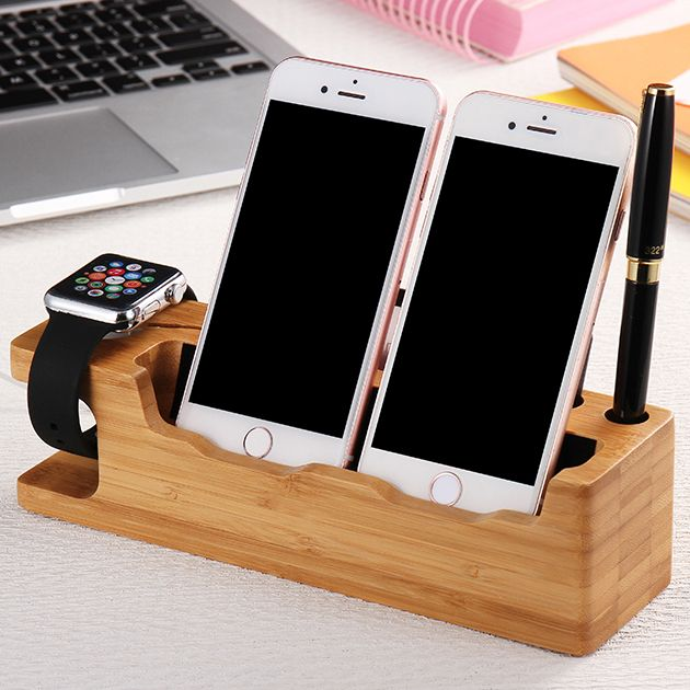 2 in 1 Wood Stand For iPhone And Apple Watch //Price: $27.98 & FREE Shipping //     #hashtag1