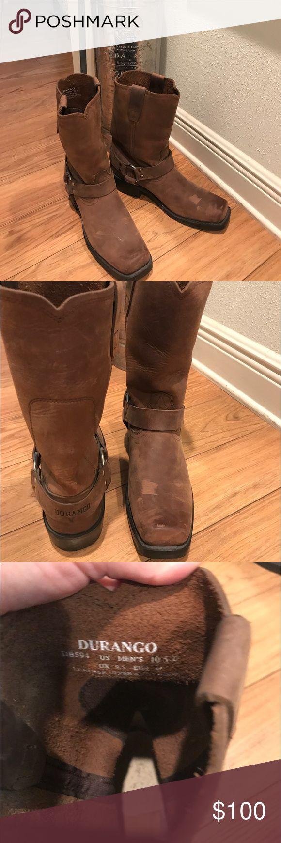 Men's- Durango boots Men's Durango harness boots. Only worn once. Durango Shoes Cowboy & Western Boots
