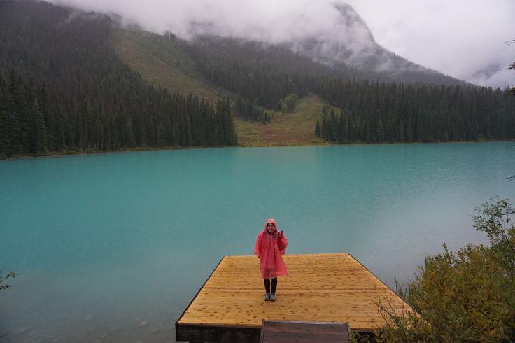 It might be raining, but it's still pretty on emerald lake!