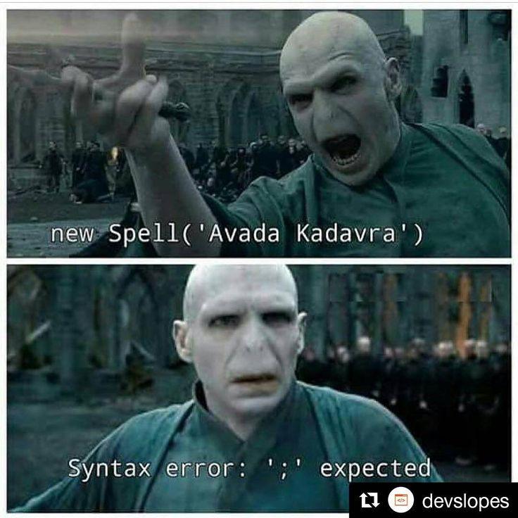 #Repost @devslopes  Haha  Syntax errors  Double tap  &  . . Learn to code on our Devslopes App!  #learntocode #caffienefix #unity  #software #designer #json #mobileappdevelopment #hardwork #iosdeveloper  #webdesigners #mycodeworks #softwaredeveloper #codeforlife #html #css3 #reactjs #softwaredeveloper #gameface #macbookpro #eatsleepcoderepeat #webdeveloper #javascript #codelife #howtoprogram #programlama #kodlama #yazilim #bilisim #geek #nerd