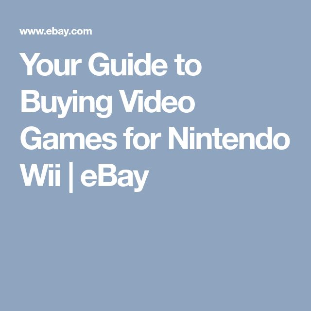 Your Guide to Buying Video Games for Nintendo Wii | eBay