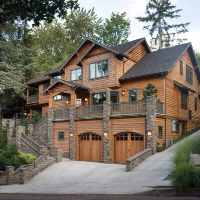 41 best house garage images on pinterest garages arquitetura how about these garage doors for the bellevue house my dream homelove the brown wood siding wood garage doors dark roof would have had stone entrance solutioingenieria Images