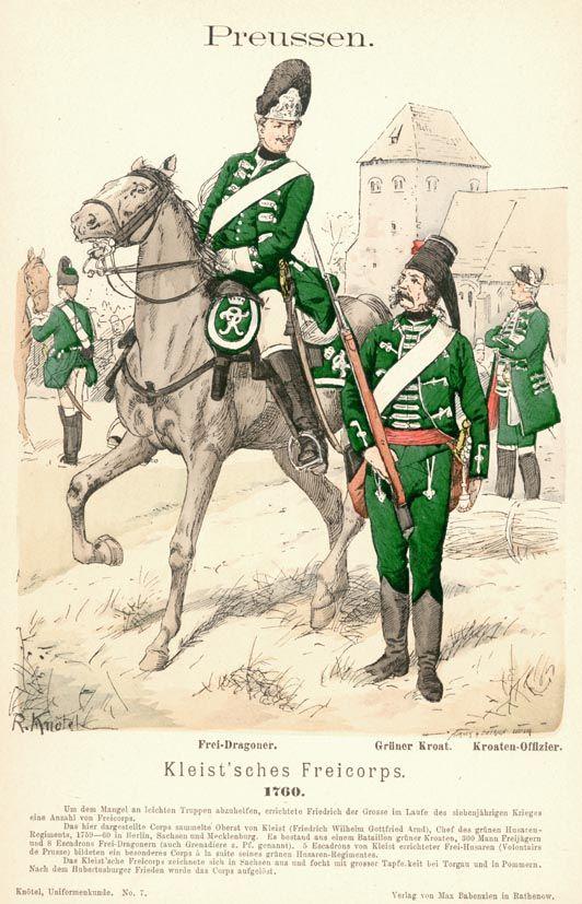 Preußen. Kleist'sches Freikorps. 1760, by Richard Knötel.