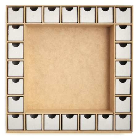 Beyond The Page MDF Shadow Box With Drawers Advent Calendar