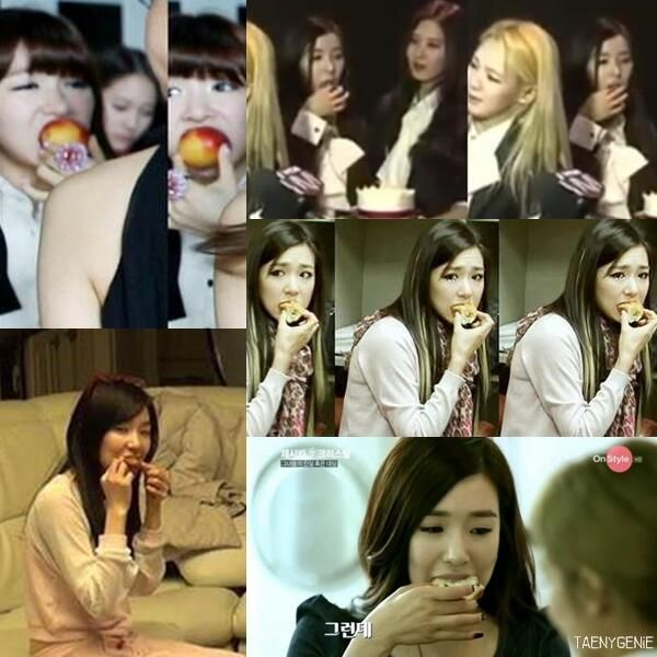 SNSD Tiffany eating