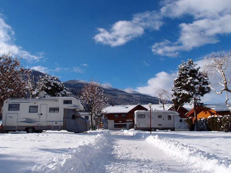 Camping in the winter time in Trentino Südtirol