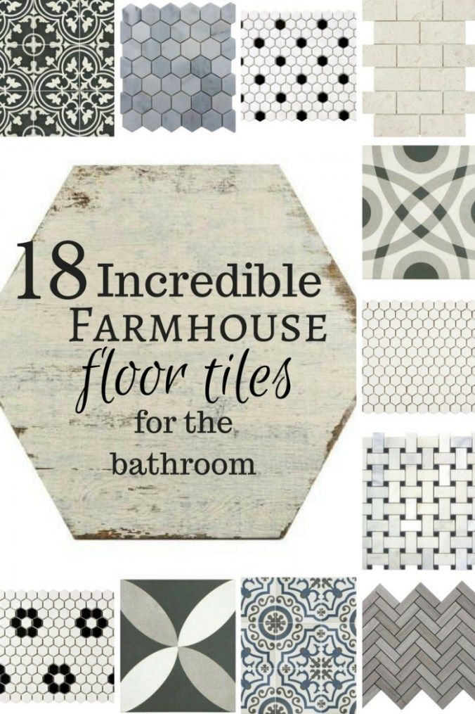 18 incredible farmhouse floor tiles for the bathroom oh my if i could have - Bathroom Flooring Ideas