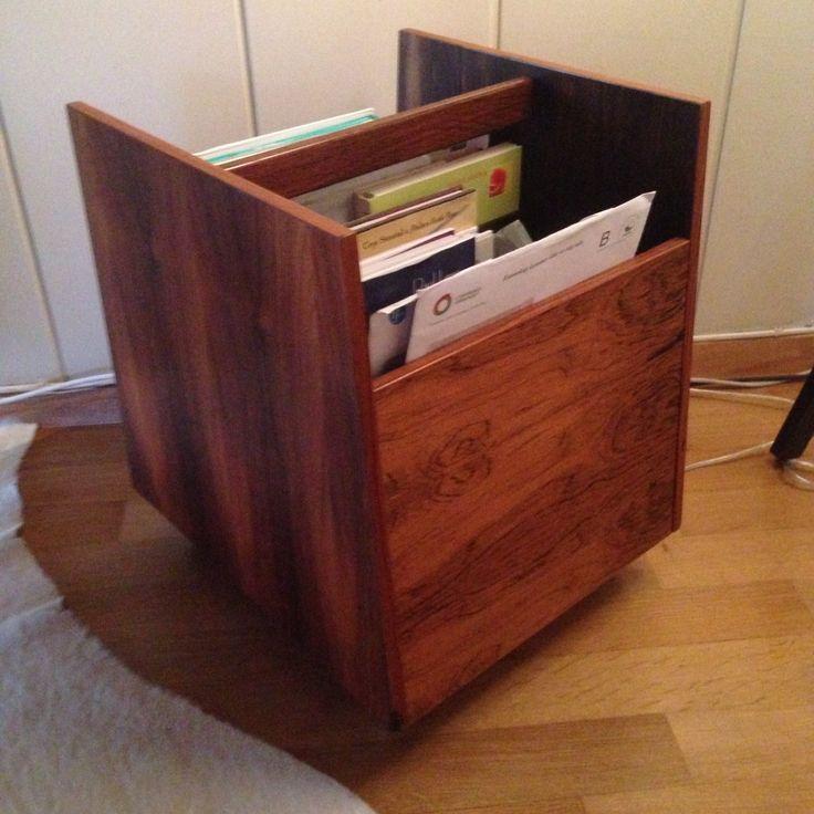 Made for storage for LP discs. Norwegian design. Mellemstrand , Bruksbo model , designer Rolf Hesland .