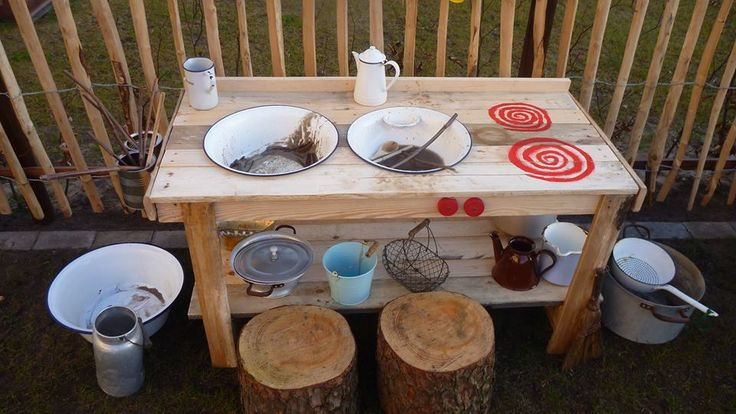 Matschküchen für den Garten