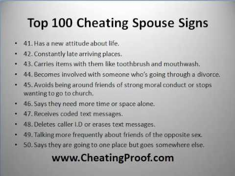 essay on cheating spouses The betrayed spouse must own his or her contribution to the marital issues, but, to repeat, the cheating spouse is 100% responsible for his or her affair i would like to end this discussion with some words of encouragement.