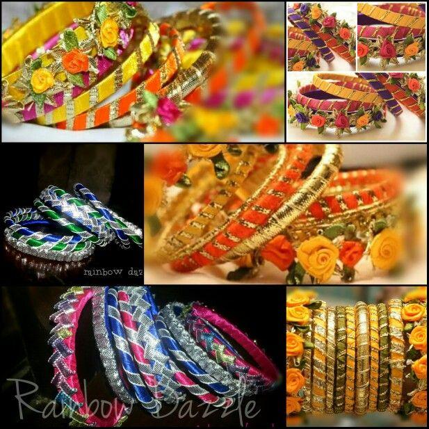 Handmade gota bangles