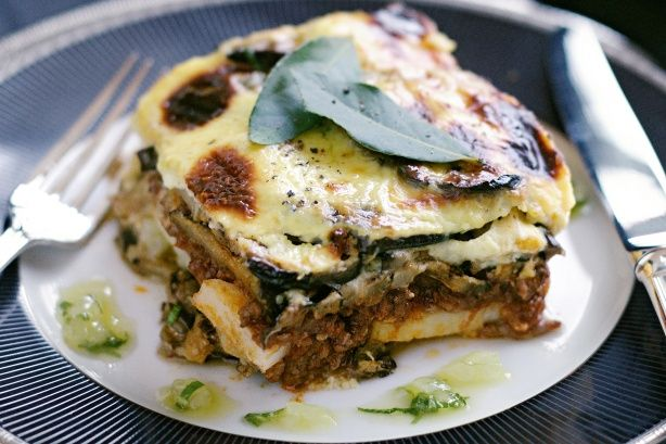 Eggplant and potato moussaka  (exclude meat, garlic, onions - use infused oil) #FODMAP