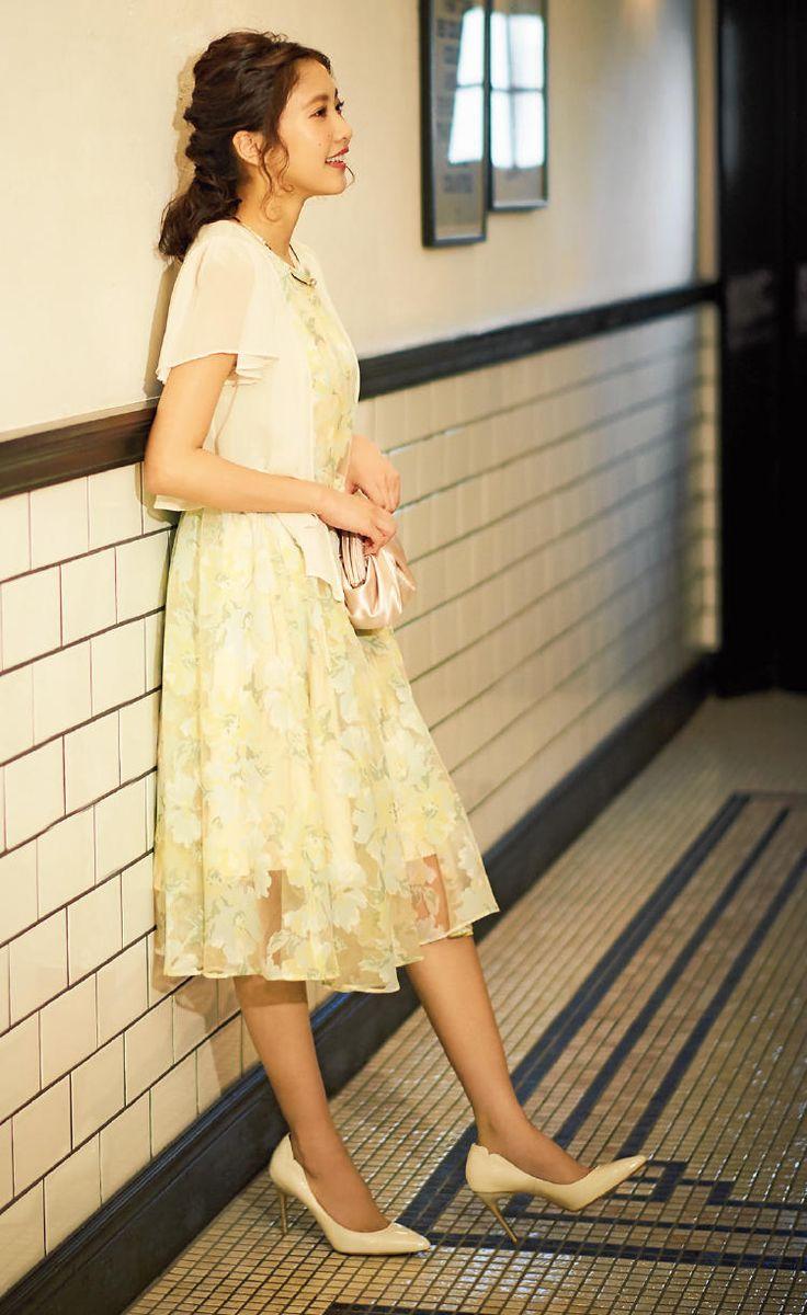 with 2017年6月号 佐野ひなこ シアーストライプと花柄でやわらかさをレイヤード