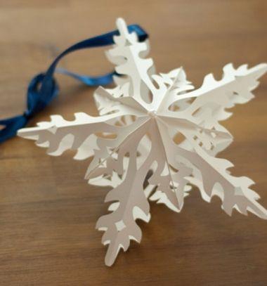 Áttört hatású csillag alakú térbeli karácsonyfadíszek papírból / Mindy -  kreatív ötletek és dekorációk minden napra