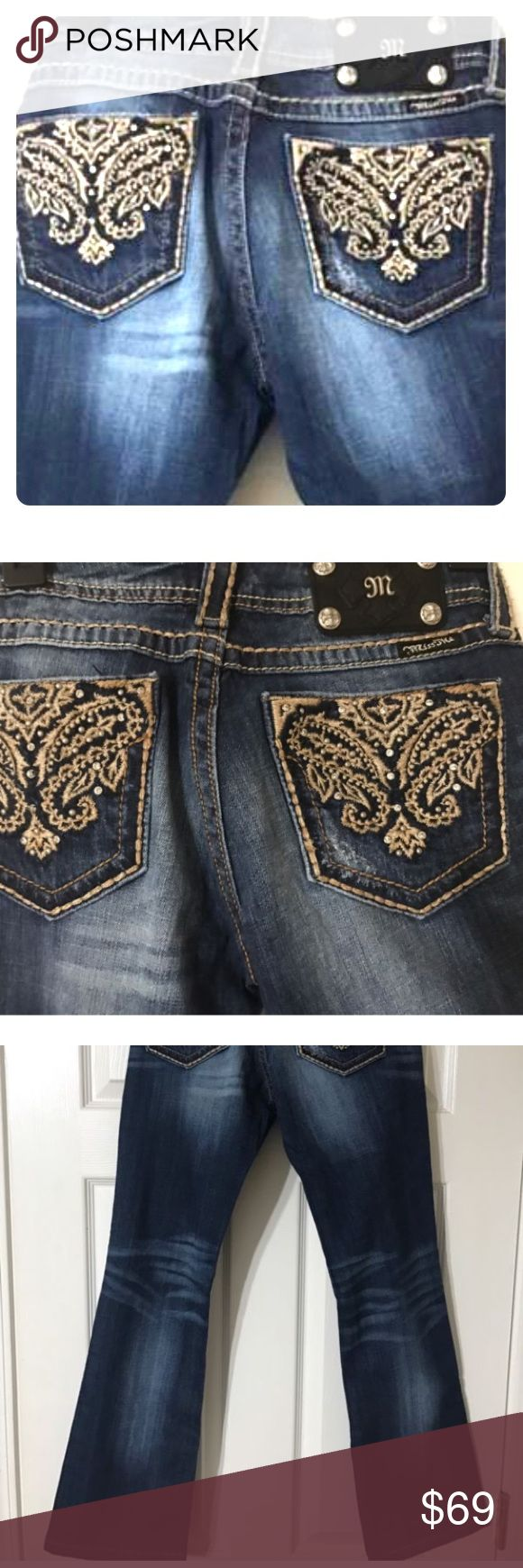 New ❤️ SUPER HOT MISS ME BLING BOOTY JEANS Size 28 New ❤️ SUPER HOT MISS ME BLING BOOTY JEANS Size 28. What these do for the rear end, should b illegal. 🚔🚨🚨. You will love these. New with out tag Miss Me Jeans Boot Cut