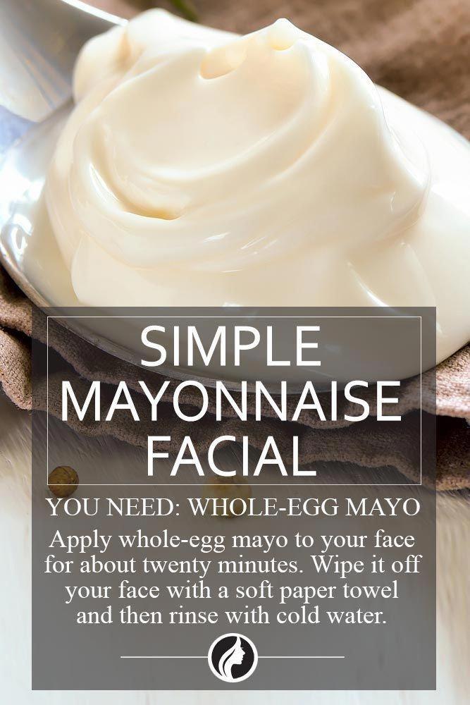 mayonnaise face mask