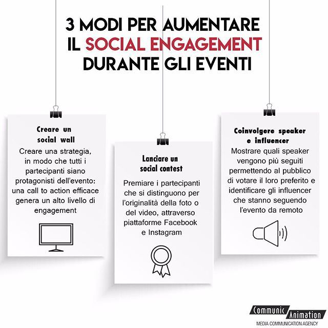 #youknowthat an event doesn't just be organized, but it also need to be monitored in real-time? Here we share three advices to increase the engagement level on your social channels #communicanimation #communication #animation #infographic #graphic #graphicdesign #socialmedia #socialmediamarketing #socialnetworks #networkmarketing #engagement #instagram #instagood #instadaily #instagramer #instagramers #contest #contests #influencer #speaker #instagrammers #channel #socialmedia #event #events…