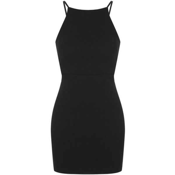 TOPSHOP PETITE Square Neck Cut-Out Bodycon Dress ($58) ❤ liked on Polyvore featuring dresses, vestidos, topshop, short dresses, petite, petite dresses, cut out mini dress, petite cocktail dress and short mini dresses