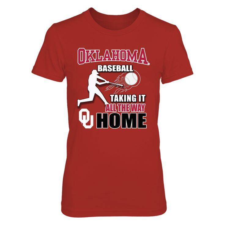 Oklahoma Sooner Baseball - Taking it All the Way Home T-Shirt, *OU College Baseball Apparel * Cheer on your Oklahoma Sooners baseball team as they head down the Road to Omaha for the College World Series. OU baseball apparel is available in custom design t-shirts, tank tops and Auburn Hoodies for the cool evening night games. Wear a University of Oklahoma... The Oklahoma Sooners Collection, OFFICIAL MERCHANDISE  Available Products:          Gildan Women's T-Shirt - $26.95 District Women's…