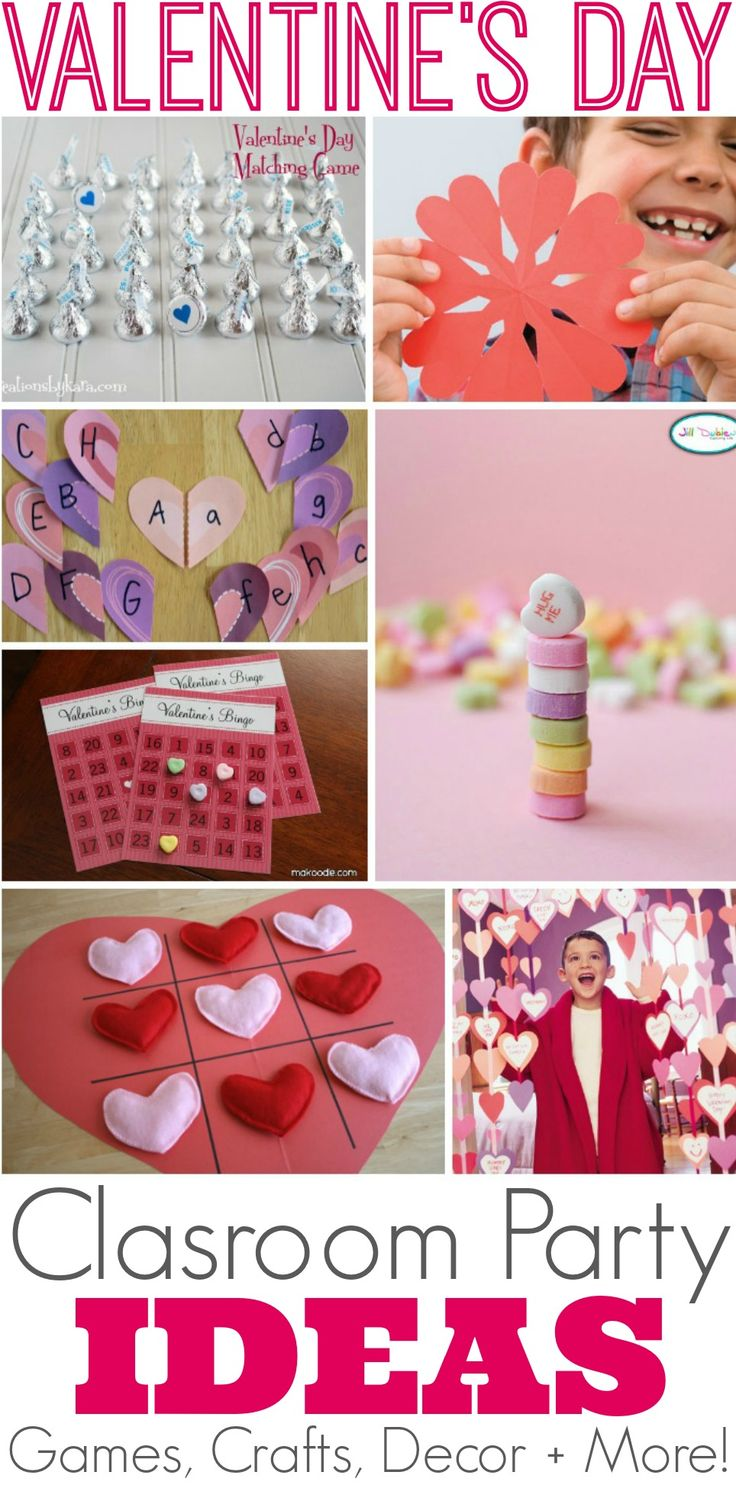 25 Creative Valentine's Day Class Party Ideas with classroom games, crafts, decor and more #ValentinesDay #classparty
