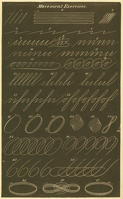 Movement exercises - Spencerian Penmanship
