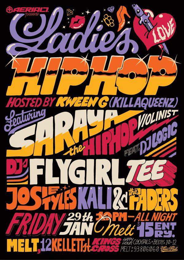 Billmund - Ladies of Hip Hop poster