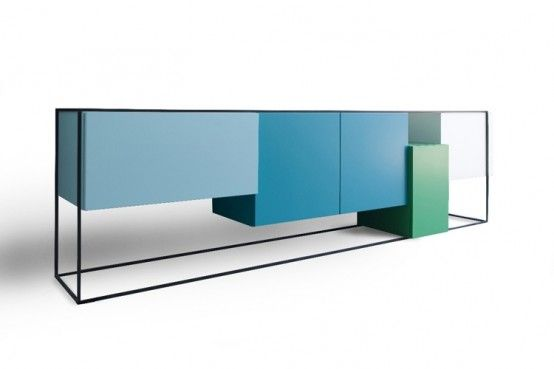Minimalist And Simple Table Design WIth Neutral Colors Of Drawers In One