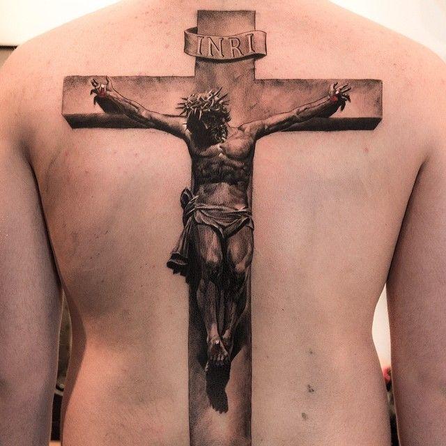 "Made by me in New York at @Burakkumanba No:4 ""Crucifix"", belongs to @Frankie Sinclair #jesus #tattoo #crucifix - @Niki Norberg- #webstagram"