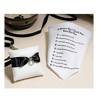 This is perfect!: Rings Pillows Wedding, Wedding Favors, White Outfits, Rings Bearer Pillows, Dogs In Wedding, Lillian Rose, Wedding Attire, Dogs Rings Bearer, Wedding Dogs