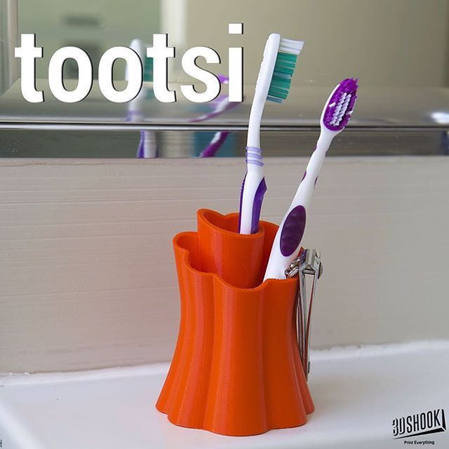 "@3dshookcollections's photo: ""We hold toothbrushes!! Check us out at www.3dshook.com #3dprint #3dmodels #3dprinted #3dprinter #3dprinters #3dprinting #makers #makersgonnamake #PrintEverything #tech #technology #design #cool #bathroom #bathroomdesign #organicdesign"""