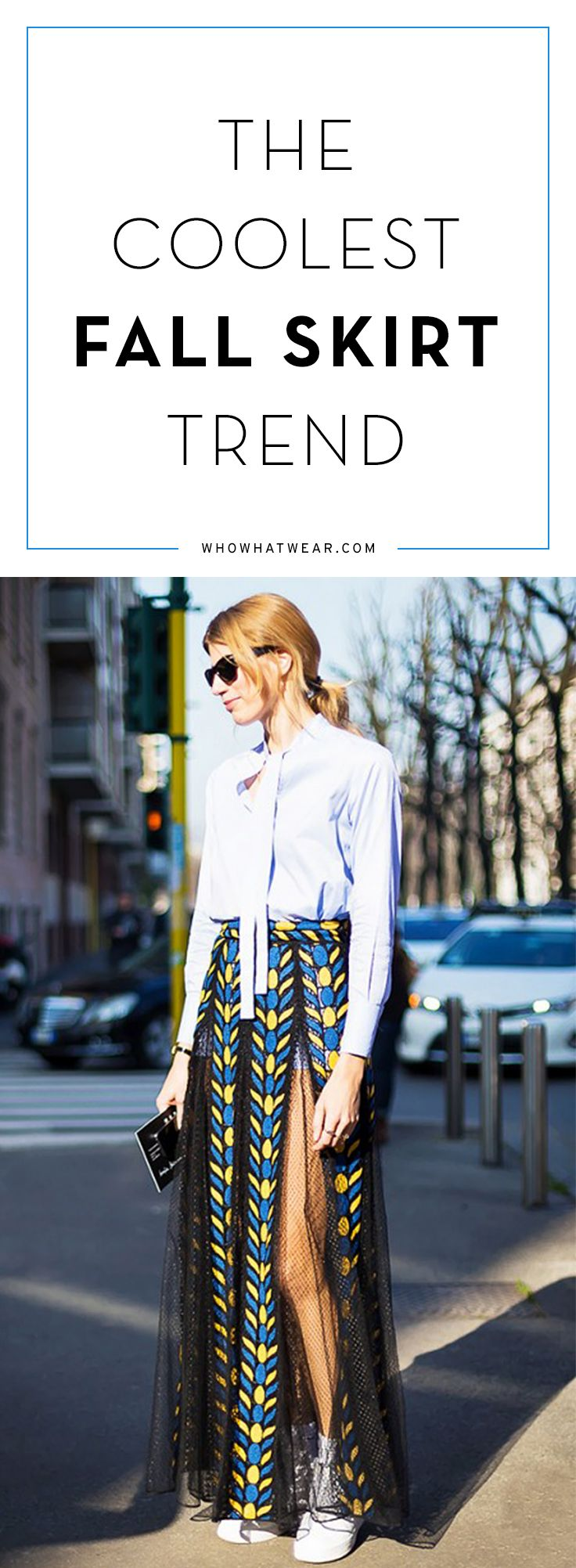How to wear fall's car wash pleated skirts now