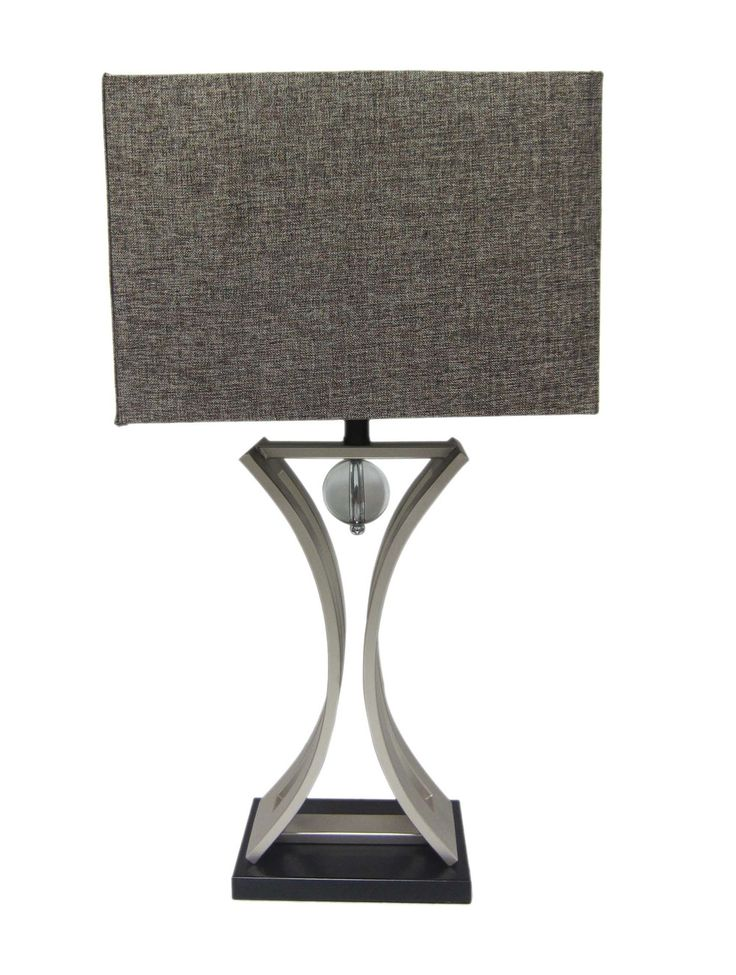 """Conference Room Hourglass 31.5"""" H Table Lamp with Rectangular Shade"""