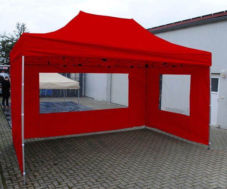3x4,5M PROFI FALTZELT - ALU - EXPRESS ZELT- Pavillon + 4 Seitenwände