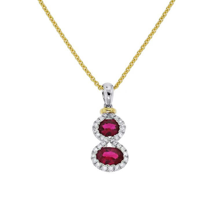 Spark Ruby and Diamond Pendant  Creations Fine Jewelers, Napa, CA 707-252-8131 www.creationsfinejewelers.com