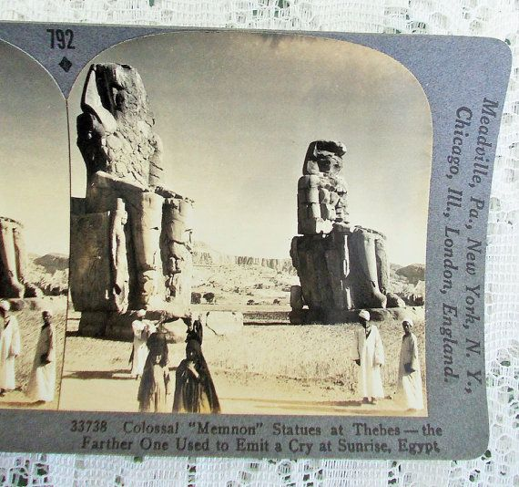 Egyptian Stereoview Card Keystone 33738 by DaysofYoreTreasures