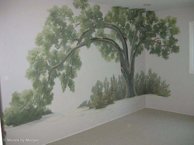 Tree Murals For Walls | Oak Tree Nursery   Hand Painted Wall Murals   San  Francisco Part 80