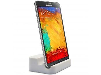 Dock Station d'accueil Blanc laqué USB 3.0 - Audio pour Galaxy S5 / Note 3