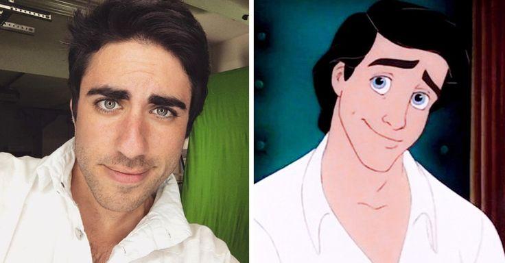 Este cosplayer de Disney es idéntico al Príncipe Eric de La Sirenita, pareciera que su rostro fue la inspiración de la compañía para crear al Personaje ¡Su cara!