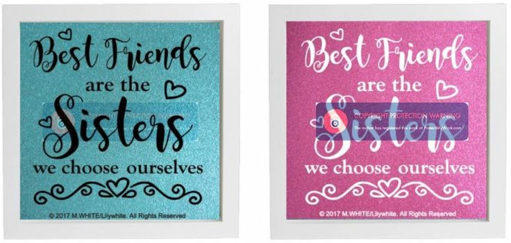 Vinyl sticker for diy box frame best friends are the sisters we choose ourselves