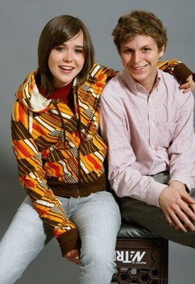 Michael Cera and Ellen Page at event of Juno