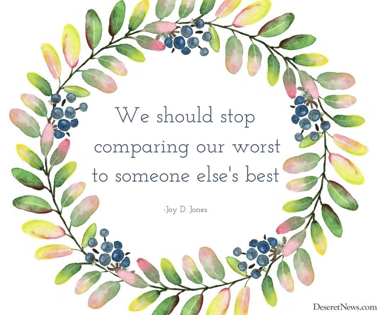"""We can stop comparing our worst to someone else's best."" -Sister Joy D. Jones  #LDSConf #LDS #quotes"