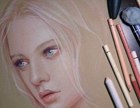 Drawing Tip: If you want to draw white or light-colored objects with colored…