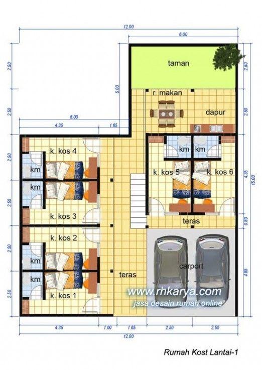 Desain Rumah Kost 2 Lantai Terbaru | Cat Rumah Minimalis ...