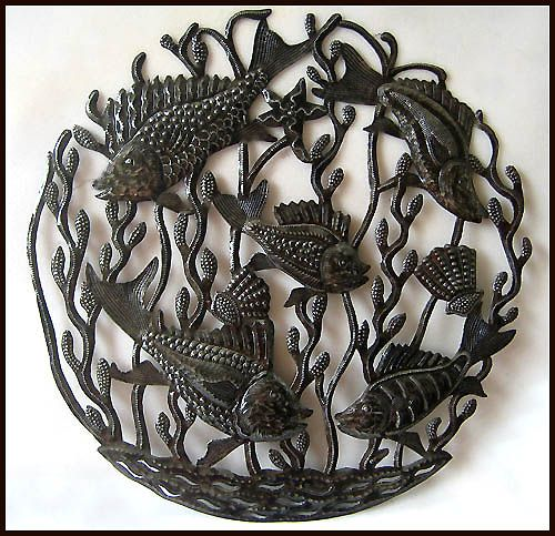 24 best Haitian Metal Fish & Sealife Wall Hangings images ...