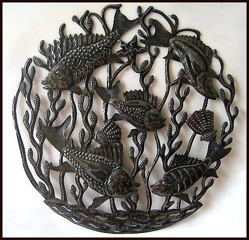 24 best Haitian Metal Fish & Sealife Wall Hangings images ...