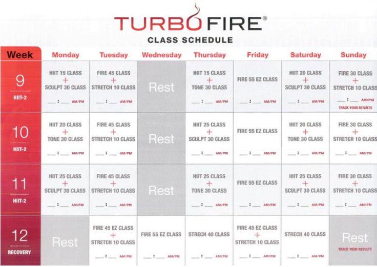 turbo fire weeks 9, 10, 11, 12