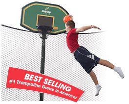 The Best Selling Trampoline Basketball Hoop by JumpSport Trampolines