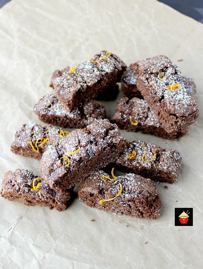 Double Chocolate and Orange Biscotti are lovely little ...