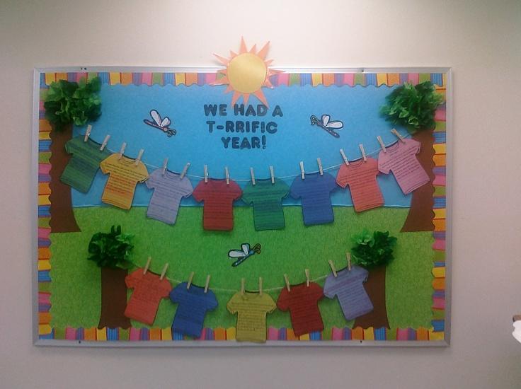 Summer Board! Students wrote their favorite memories of the school year:)