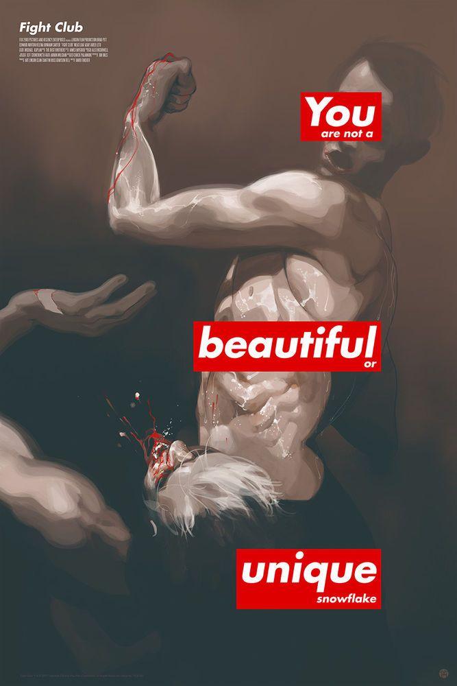 FIGHT CLUB Movie Tomer Hanuka Print Poster Art #/300 Supreme